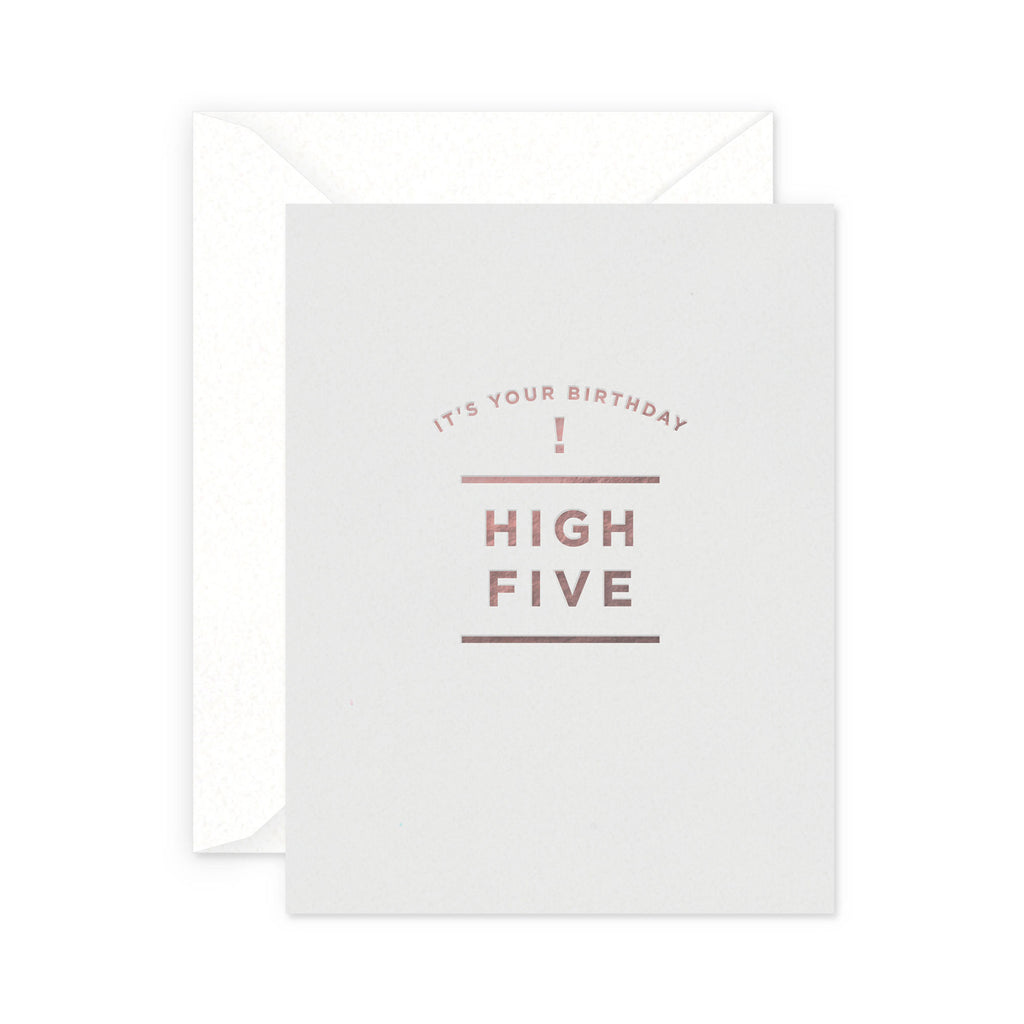 Birthday High Five Greeting Card