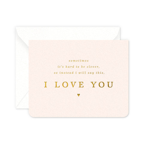 Clever Love Greeting Card