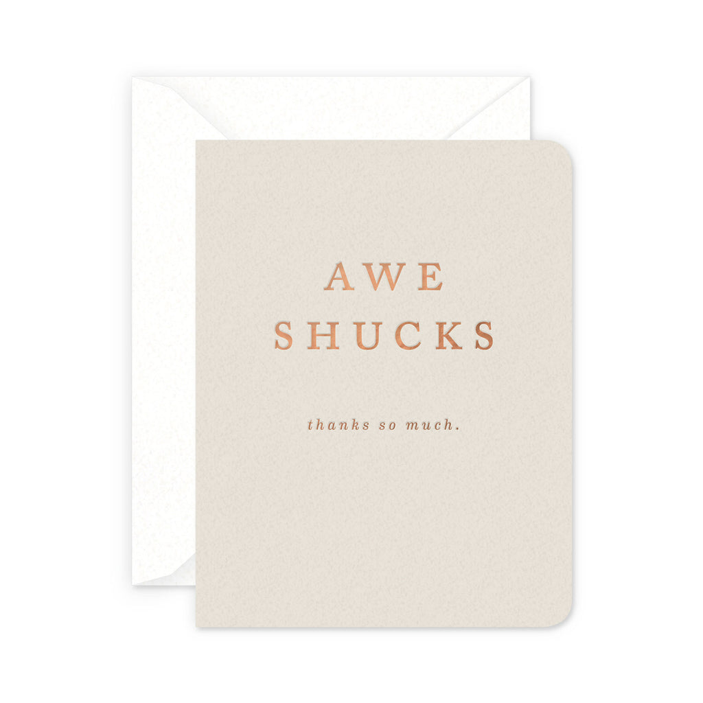 Shucks Greeting Card