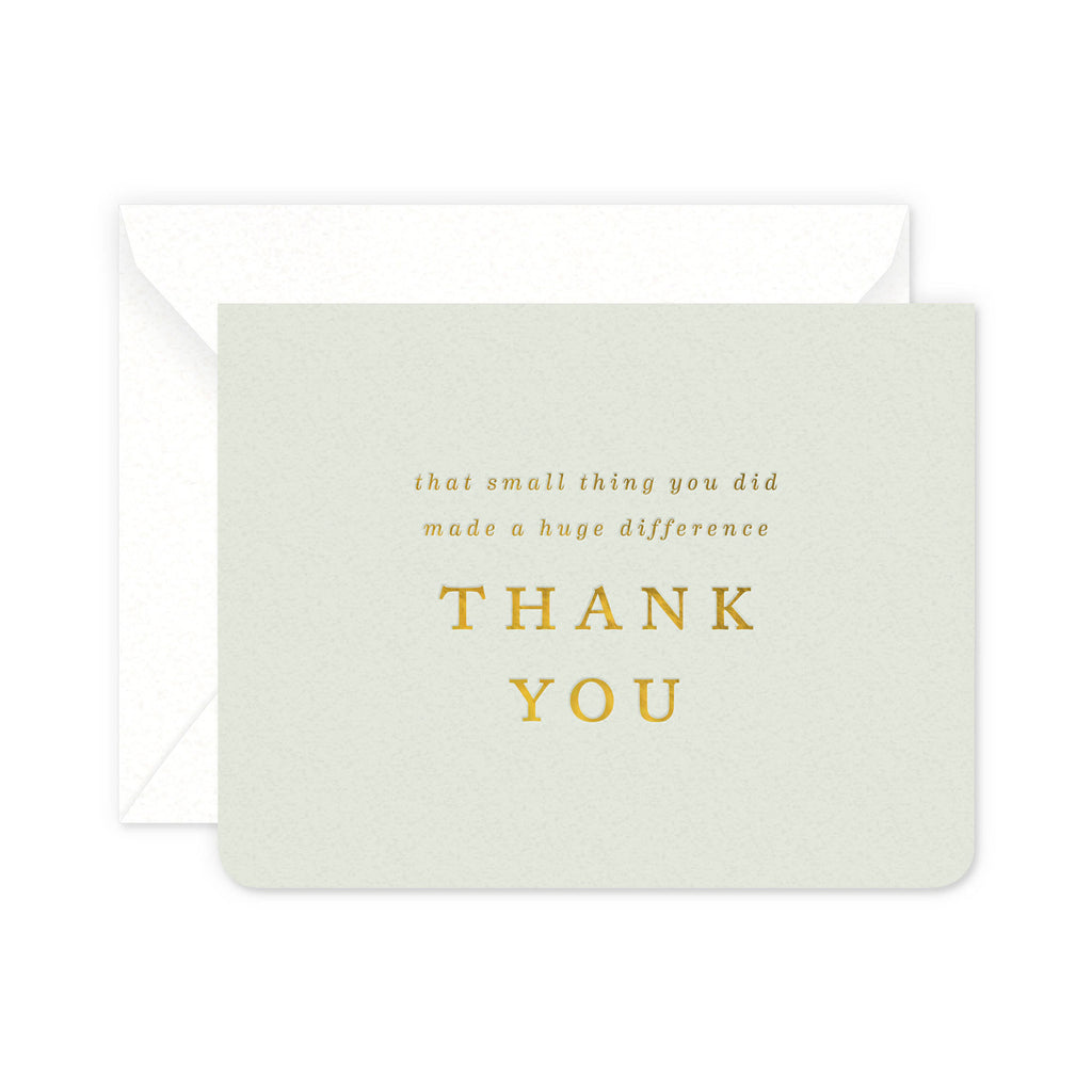 Small Thing Thanks Greeting Card