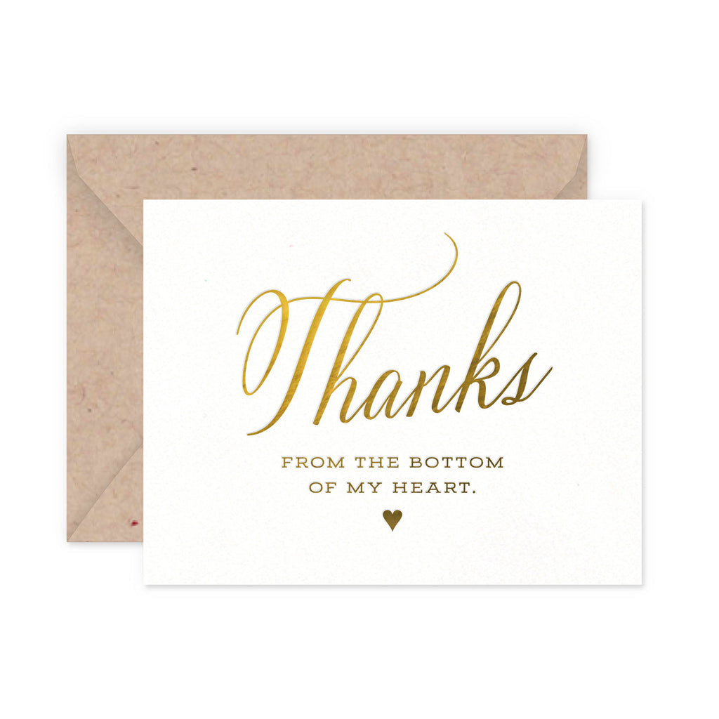 Thank You Heart Greeting Card