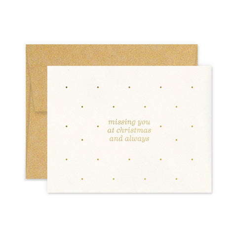 Miss You Christmas Greeting Card