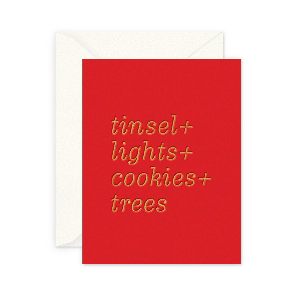 Tinsel and Lights Greeting Card