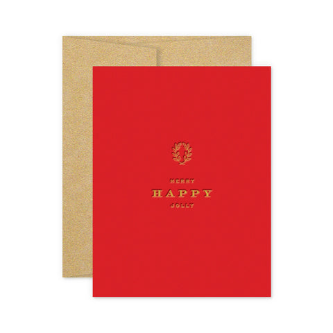 Merry Happy Jolly Greeting Card
