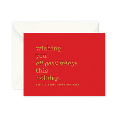 Good Things Holiday Greeting Card