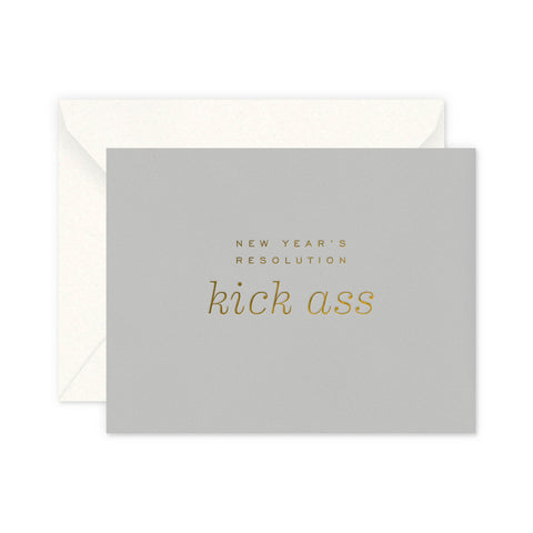 Kick Ass Greeting Card