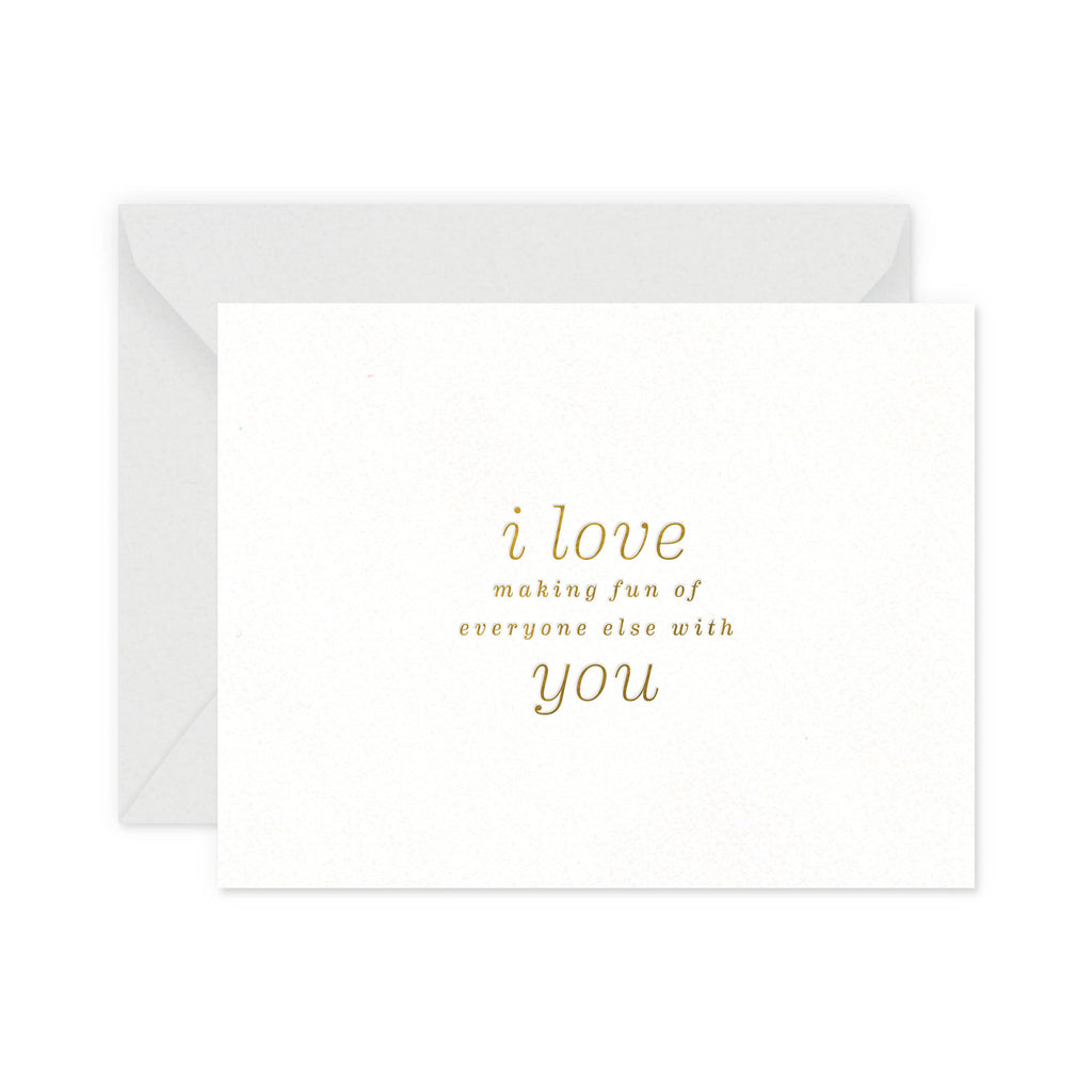 Making Fun Love Greeting Card