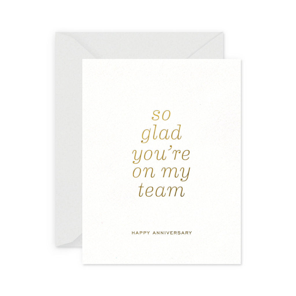 Team Anniversary Greeting Card