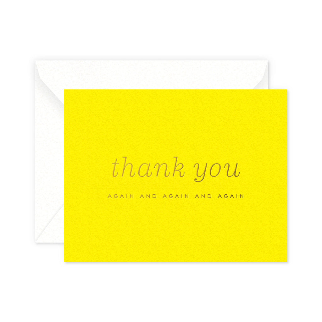 Thank You Again Greeting Card
