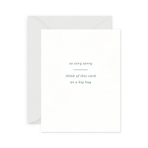 Big Hug Sympathy Greeting Card