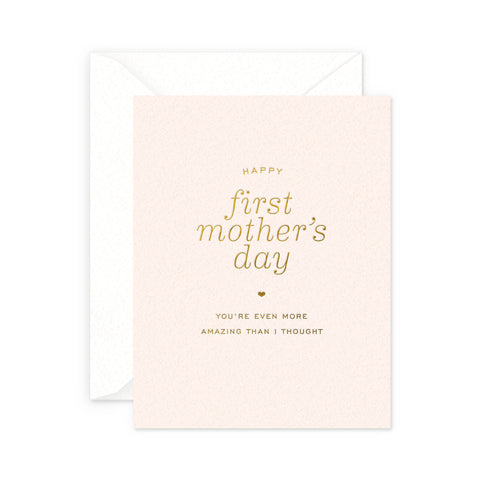 First Mother's Day Greeting Card
