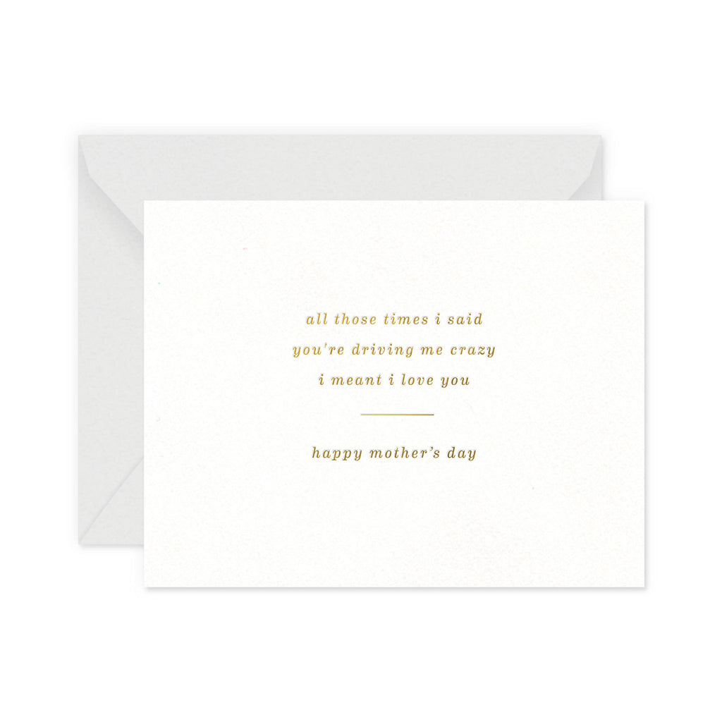 Crazy Mother's Day Greeting Card