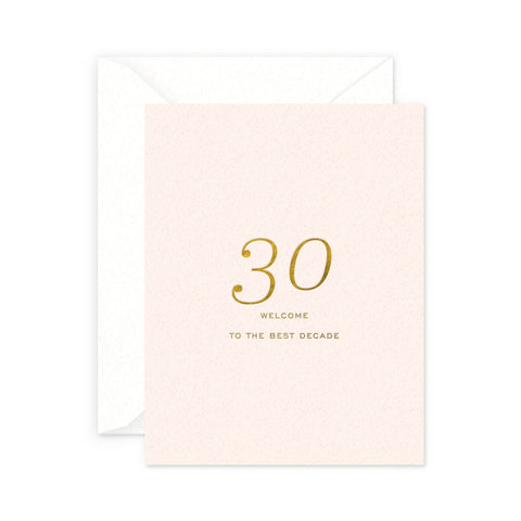 Best Decade Birthday Greeting Card