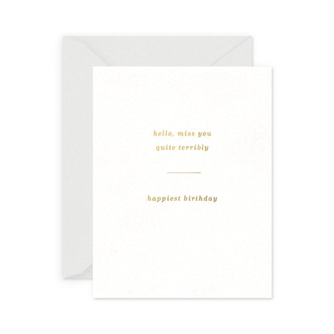 Miss You Birthday Greeting Card