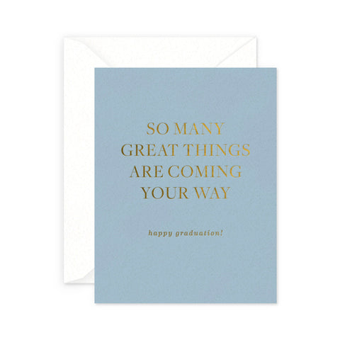 Great Things Graduation Greeting Card