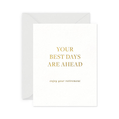 Best Days Retirement Greeting Card