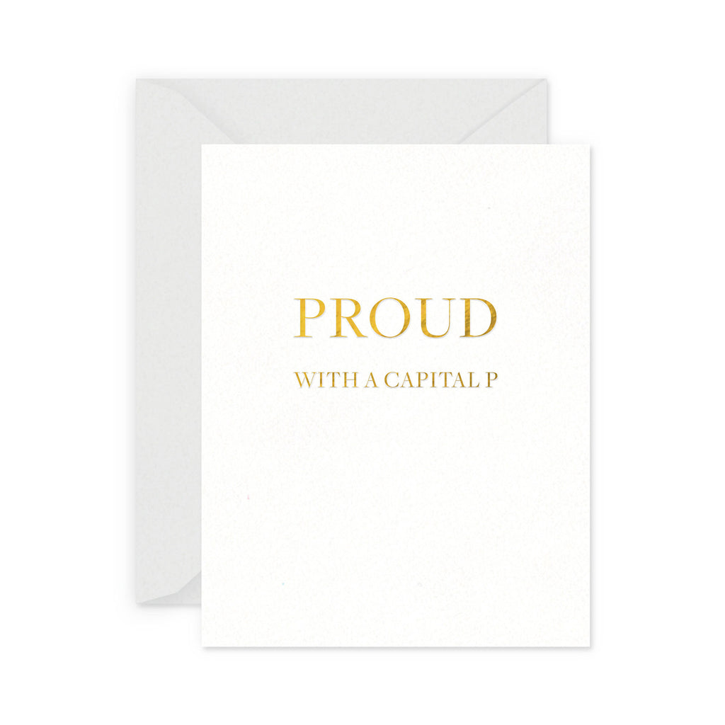 Capital P Greeting Card