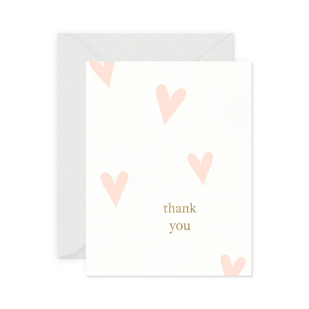 Happy Heart Thank You Greeting Card