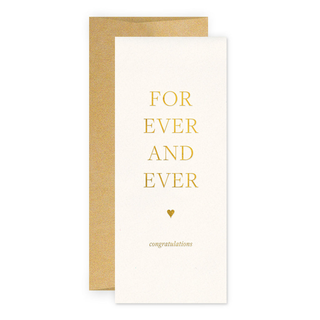 For Ever Wedding Greeting Card