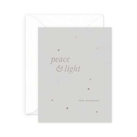 Peace and Light Hanukkah Greeting Card