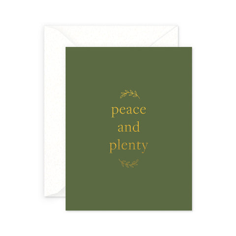Peace and Plenty Holiday Greeting Card