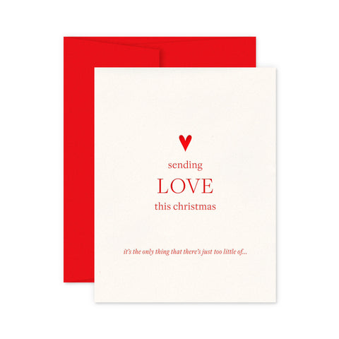 Sending Love Holiday Greeting Card