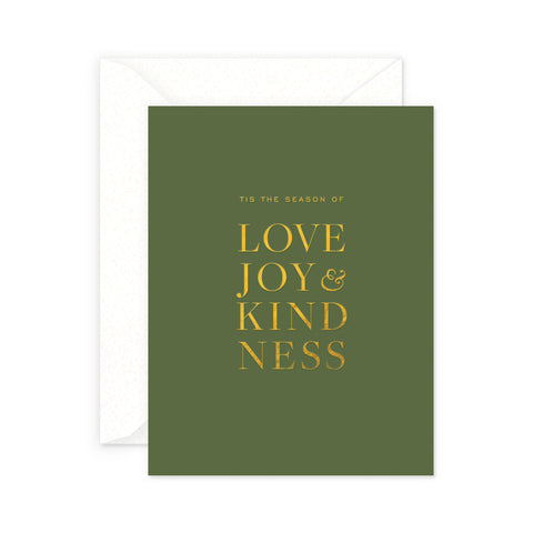 Love & Joy Holiday Greeting Card