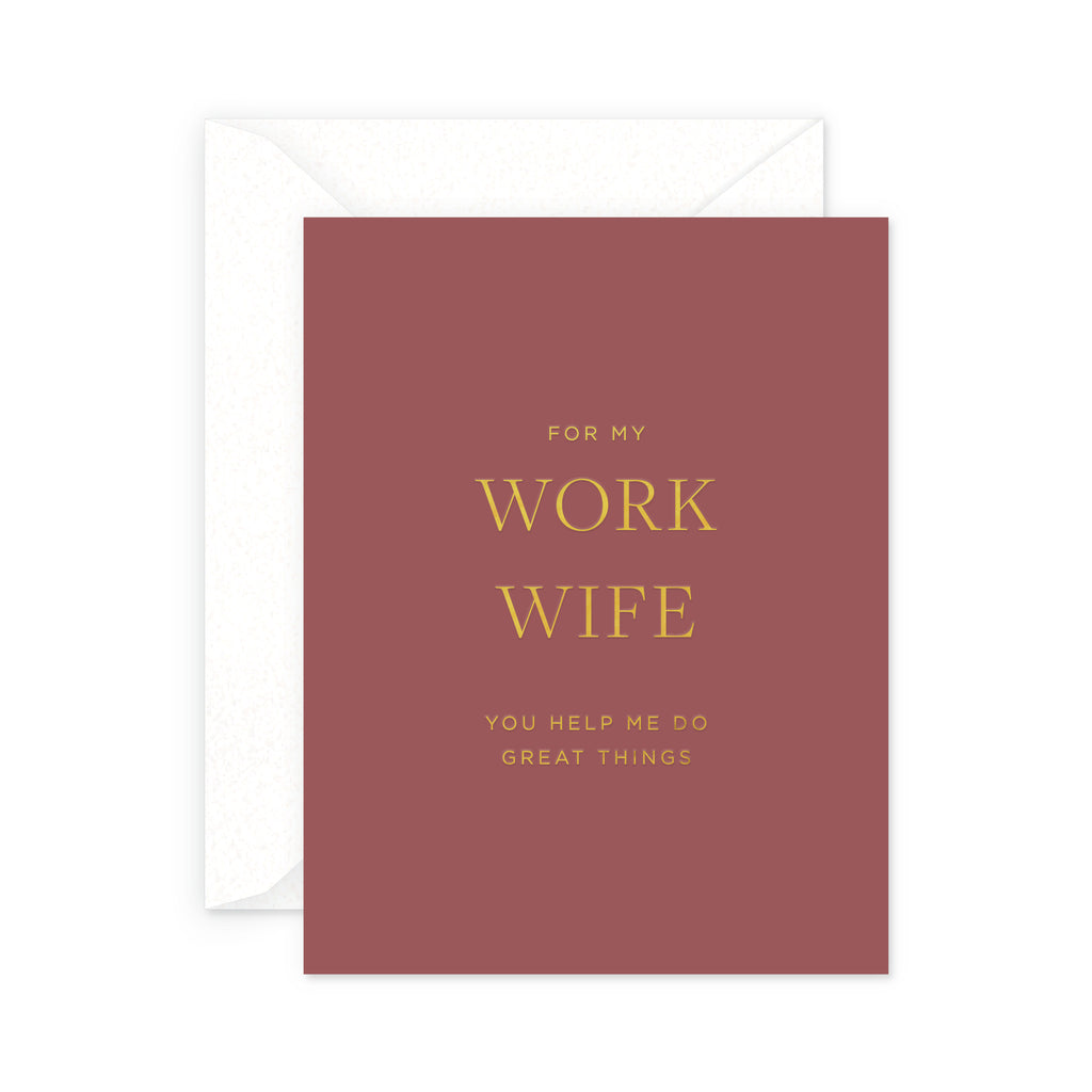 Work Wife Greeting Card