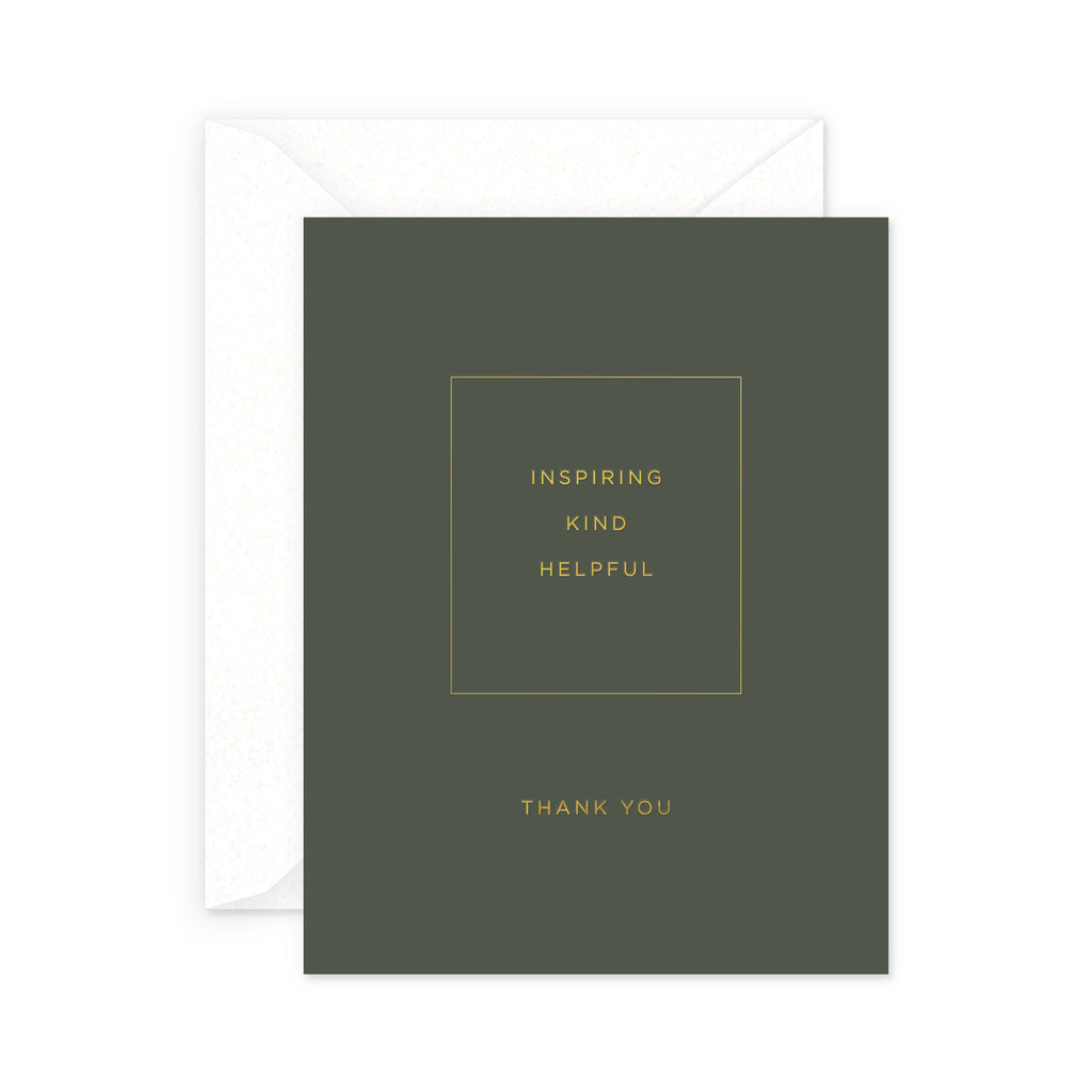 Inspiring Thank You Greeting Card