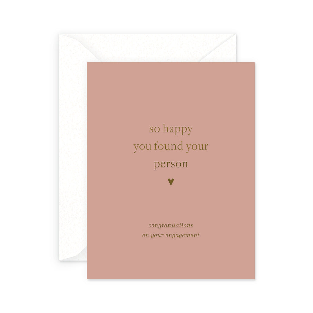Your Person Engagement Greeting Card