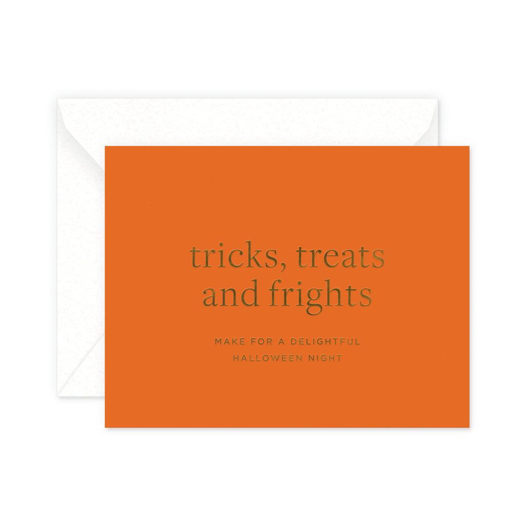 Tricks, treats and frights Greeting Card