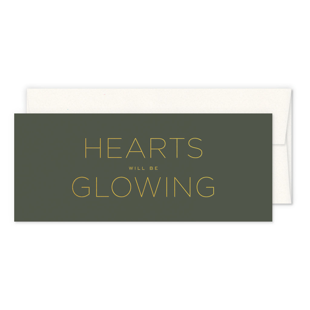 Hearts Will Be Glowing Greeting Card