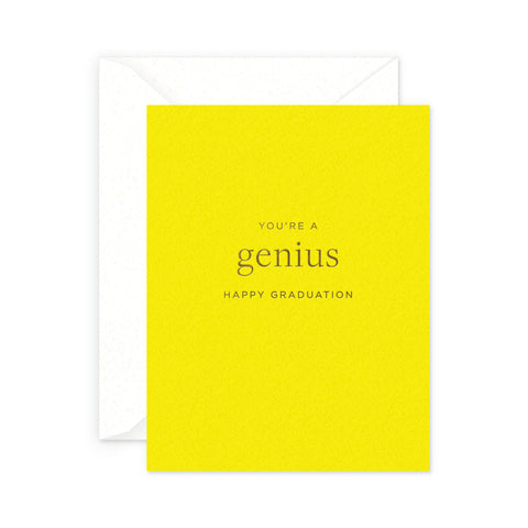 Genius Graduation Greeting Card