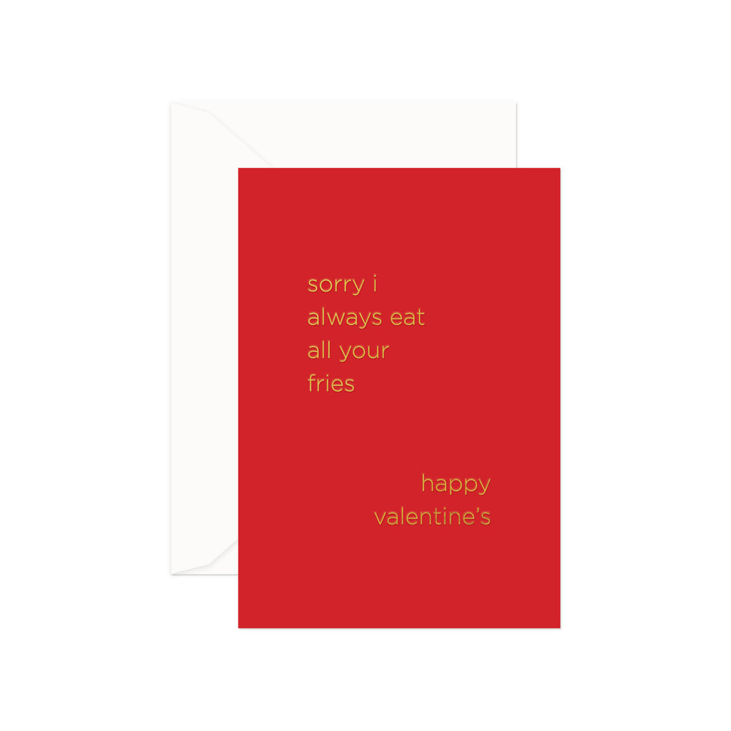 Fries Valentine Greeting Card