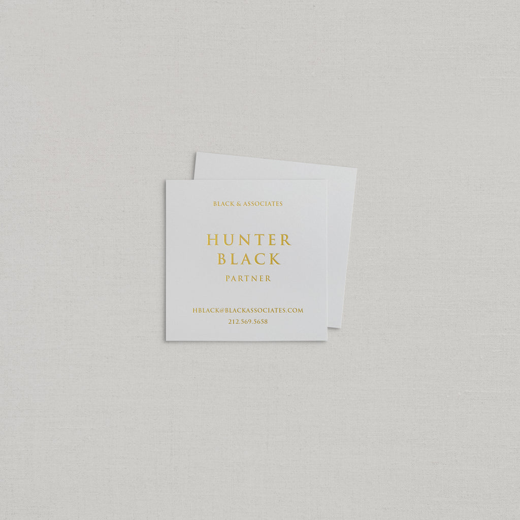 Hunter Business Cards Foil