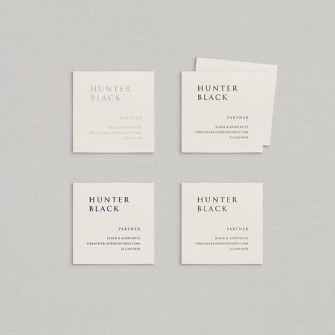 Hunter Business Cards Letterpress