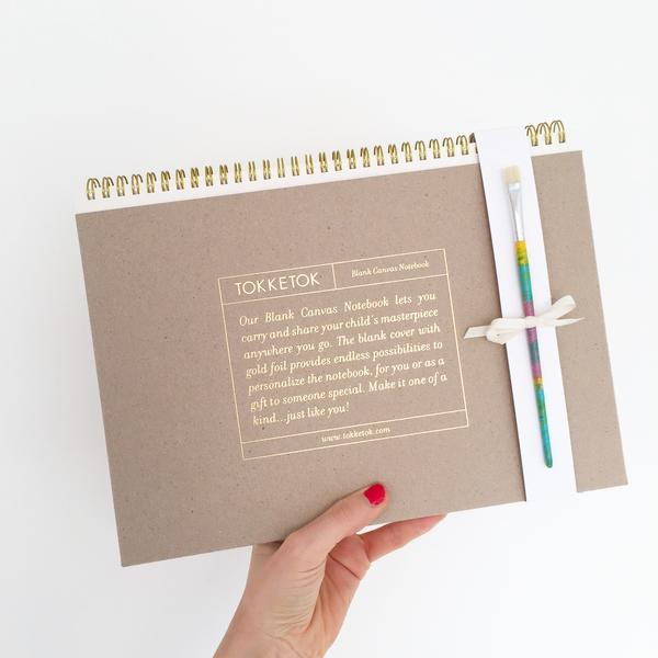 TOKKETOK BLANK CANVAS NOTEBOOK