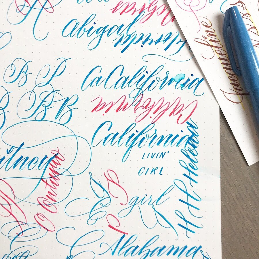 OCTOBER 13TH: Beginner's Brush Pen Calligraphy with Pieces Calligraphy