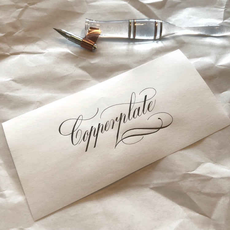OCTOBER 12TH: Beginning Copperplate Calligraphy with Suzanne Cunningham