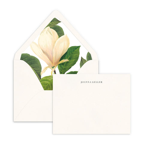 White Magnolia Luxe Lined Note Set