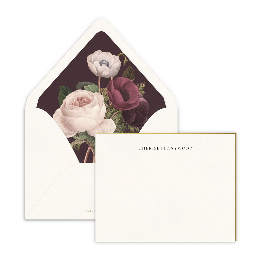 Dark Anemone Luxe Lined Note Set