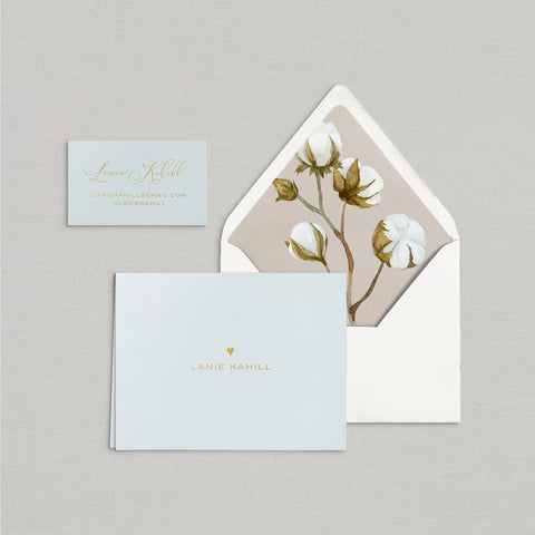Lanie Personalized Stationery Small Tented