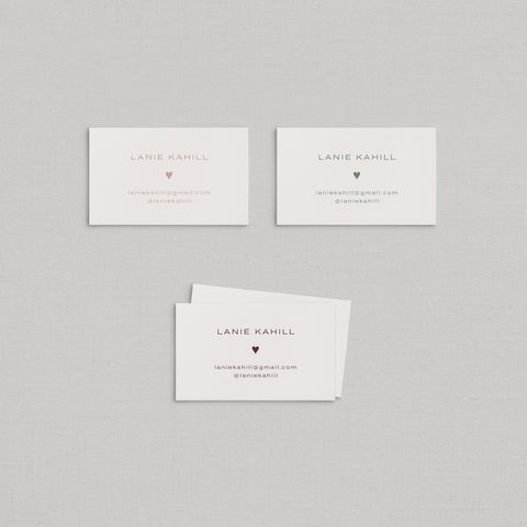 Lanie Business Cards Letterpress