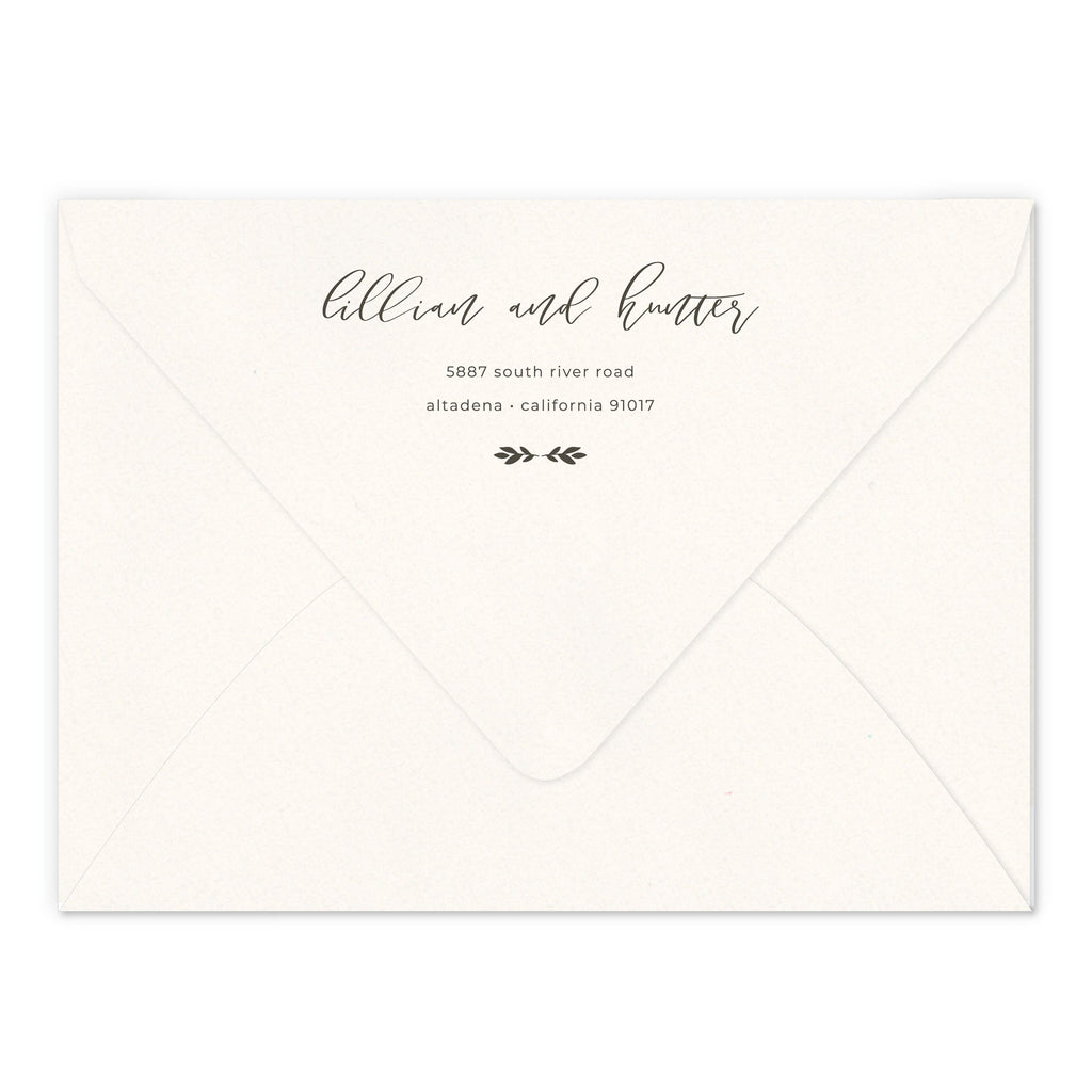 Invite Return Address