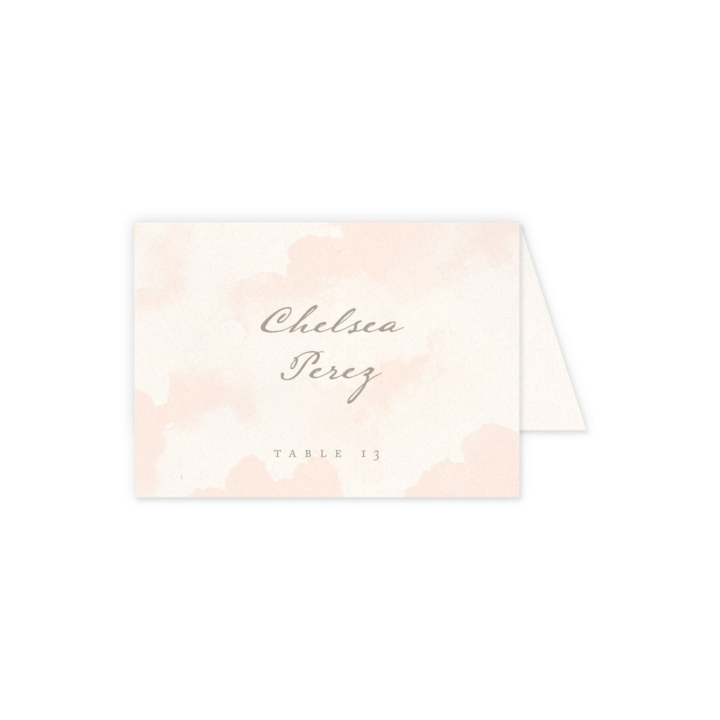 Luxe Place Card with Guest Details