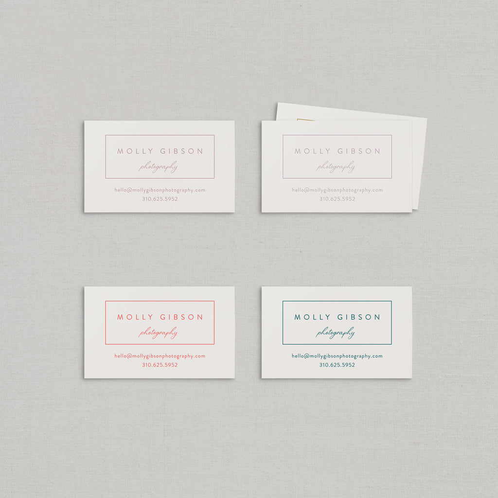 Molly Business Cards Letterpress