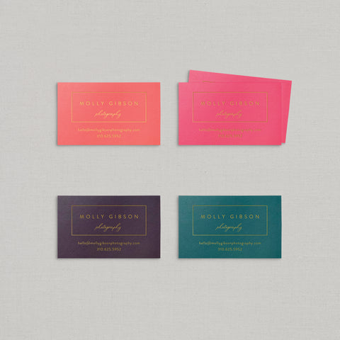 Molly Business Cards Foil