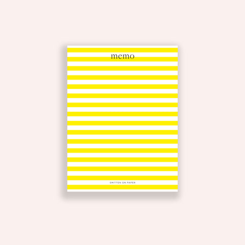 Yellow Stripe Chunky Notepad