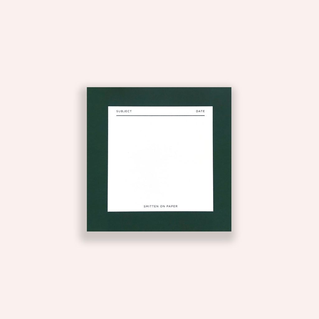Green Square Chunky Notepad
