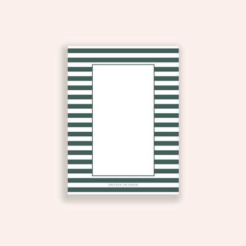 Green Stripe Chunky Notepad